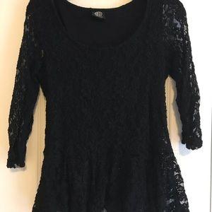 Adorable black lace top